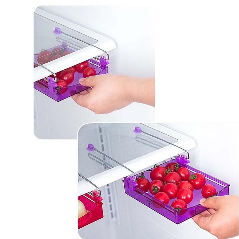 日用雑貨 冷蔵庫用 仕切り 収納ケース 引き出し式