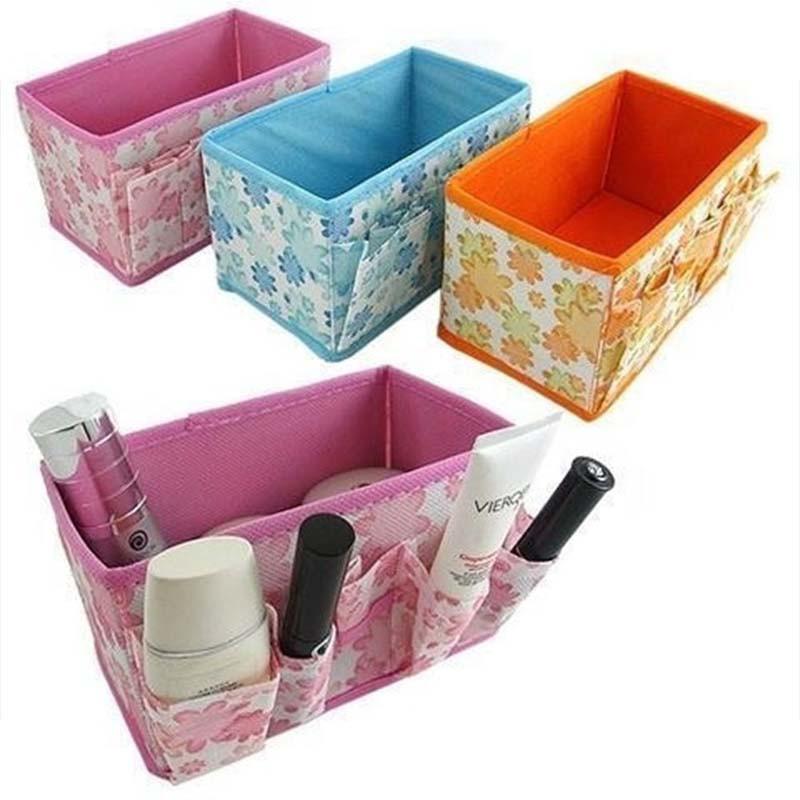 収納ケース 化粧品収納ボックス 折り畳み式 化粧固定容器