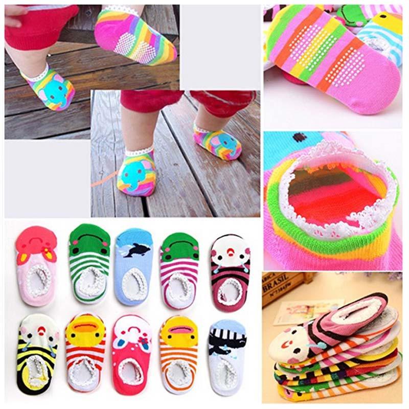 新生児用ベビー靴下  滑り止めソックス 子供ソックス ベビー靴下 12セット