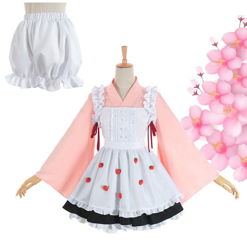 カードキャプターさくら 木之本 桜(きのもと さくら) 和風 メイド服 苺 イチゴ