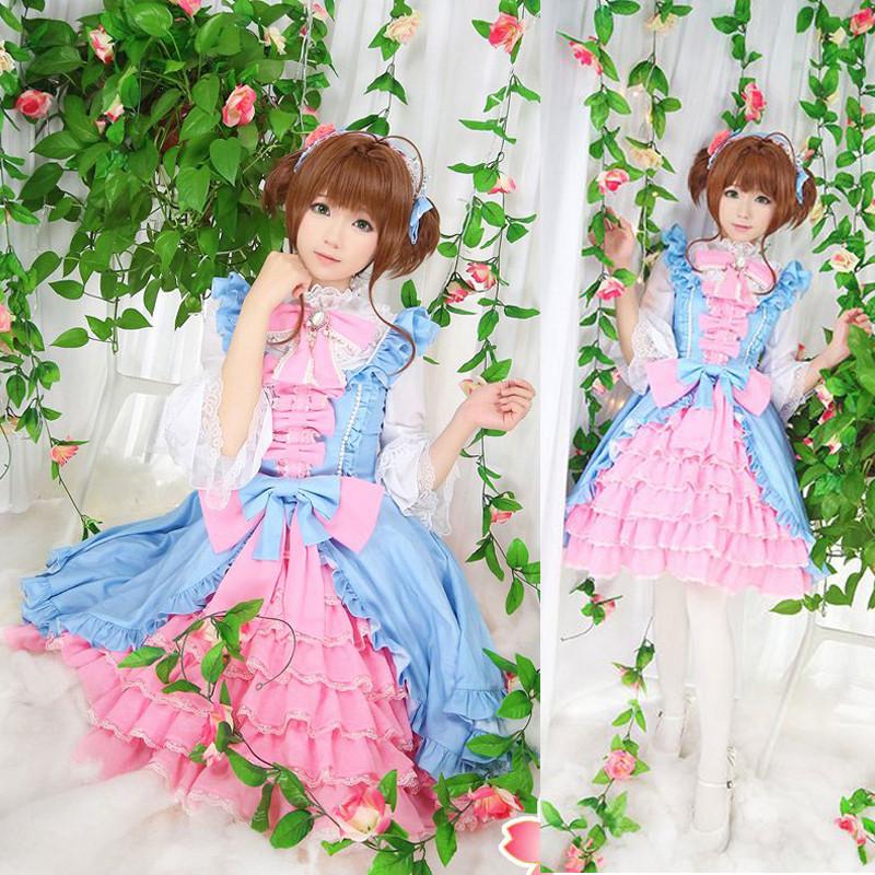 カードキャプターさくら 木之本 桜(きのもと さくら)ロリータ風 ドレス コスプレ衣装