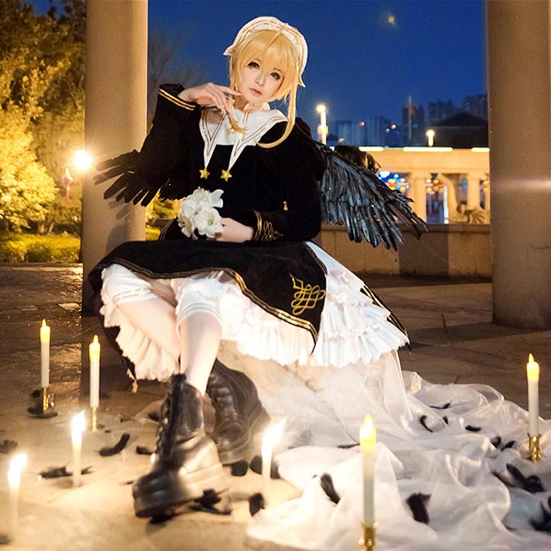 カードキャプターさくら 木之本桜 さくら 黒天使 天使服 コスプレ衣装