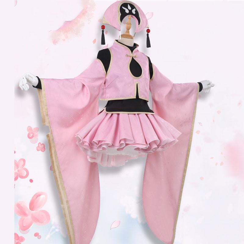 カードキャプターさくら クリアカード編 木之本桜 ピンクの道服  コスチューム コスプレ衣装