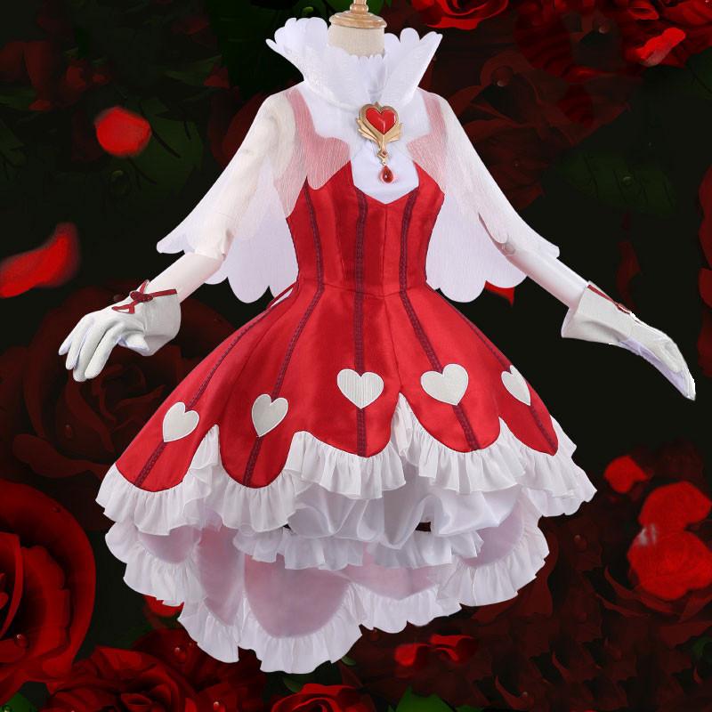 カードキャプターさくら  木之本桜 薔薇 ローズ スカート ドレス ハート