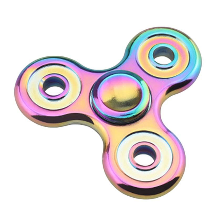 指先ジャイロ 三角 ピナー 高速回転 ハンドスピナー 人気な指遊び 知育玩具 七色