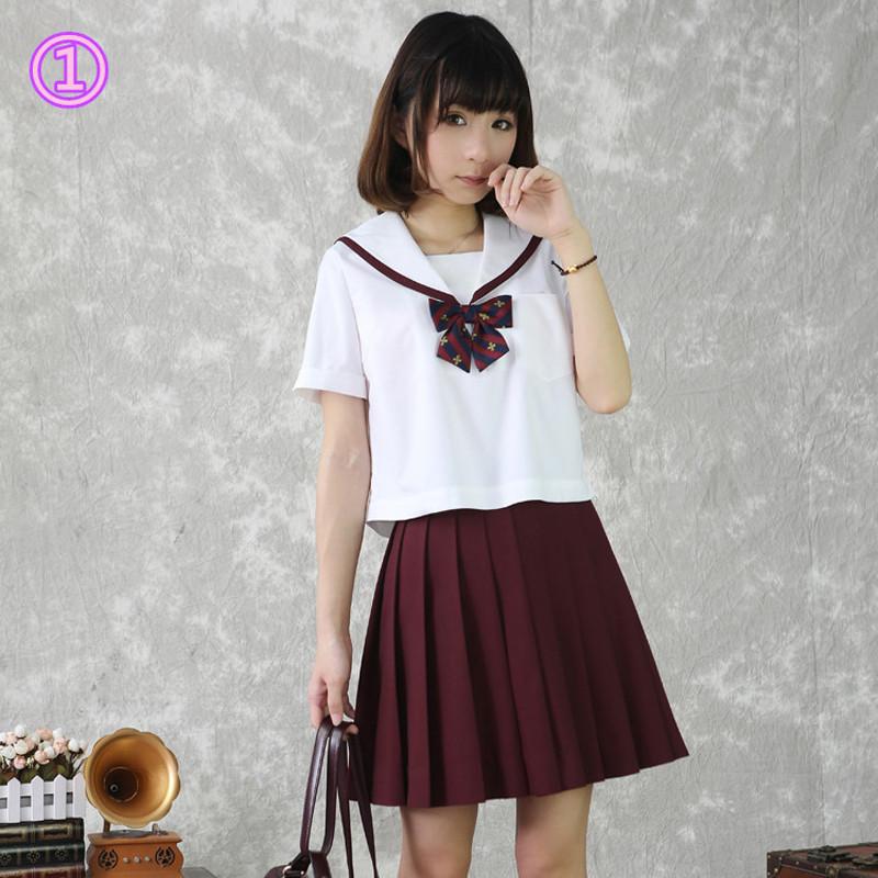 既製品!Jk制服 短袖 女子 制服 セーラー襟 5色選択可能