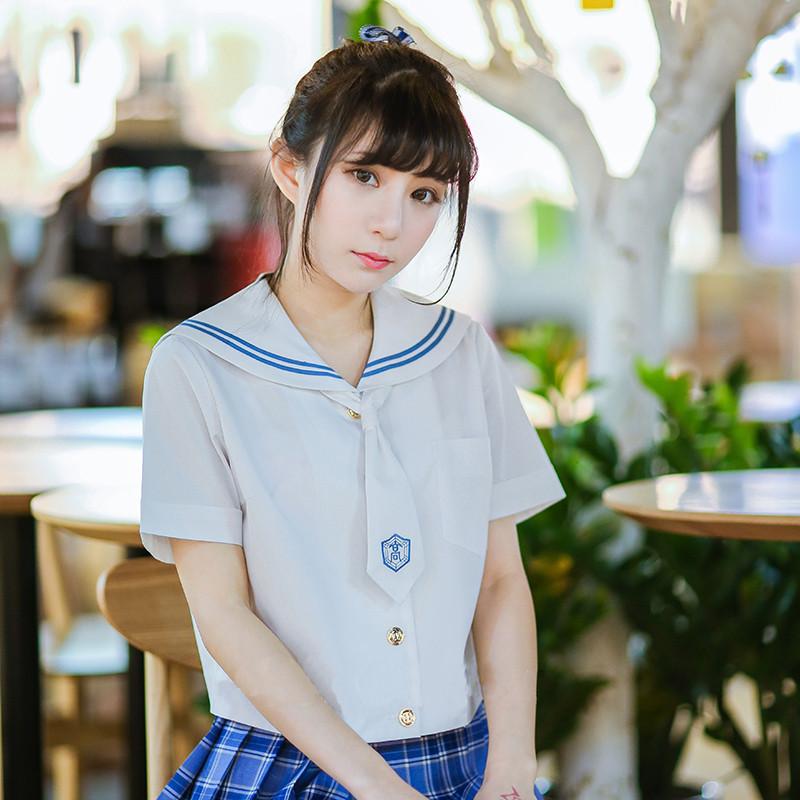 Jk制服 夏 札幌襟 短袖 女子 制服  日常用 女子制服