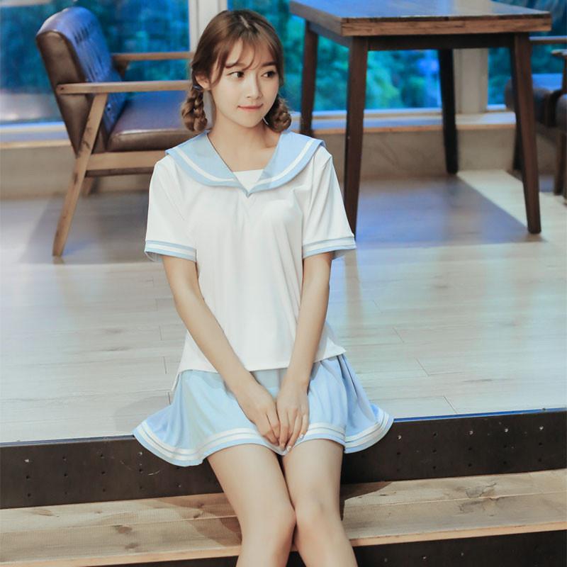 送料無料 JK制服 セーラー襟 女子高校生 制服 日常用 制服2セット