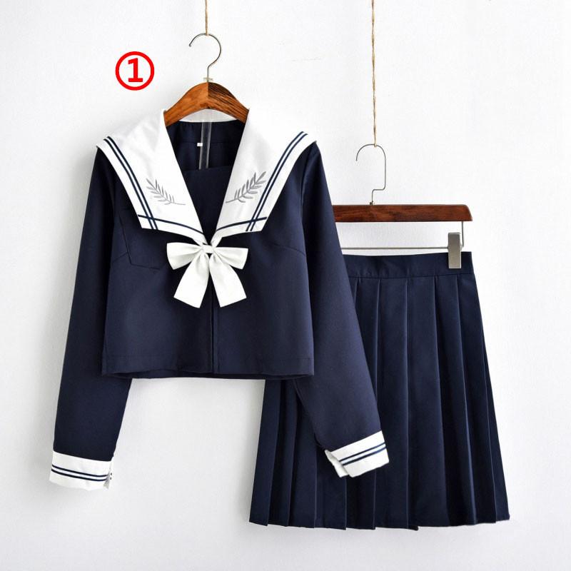 制服 セーラー服(ネイビー) jk コスプレ衣装 日常風  高校生 学生 中学 女子校生 通学 学校 スクール 学生服