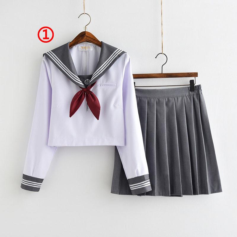制服 セーラー服(3本線の襟) jk コスプレ衣装 日常風  高校生 学生 中学 女子校生 通学 学校 スクール 学生服