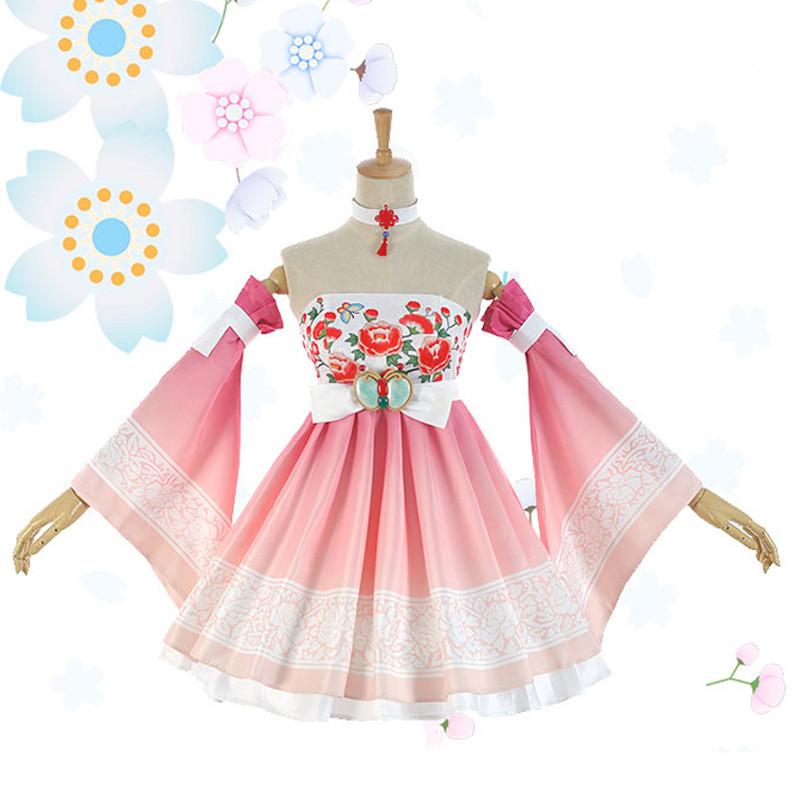 VOCALOIDボーカロイド (鏡音リン)Rin (鏡音レン)Ren 極楽浄土 和風 コスプレ衣装