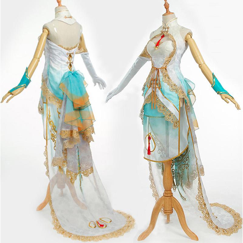 VOCALOIDボーカロイド 青鸾言和 チャイナドレス
