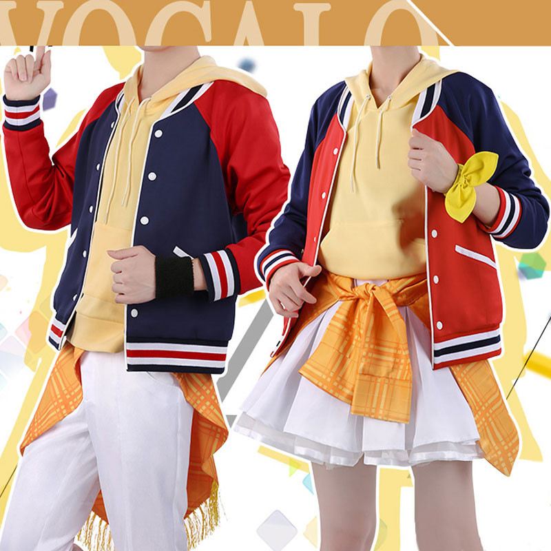 【予約商品】VOCALOID ボーカロイド 鏡音リン Rin 鏡音レン Len 日常 コスプレ衣装