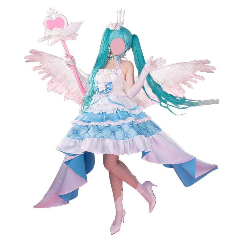 ボーカロイド 初音ミク Sweet Angel 13周年 miku 誕生日礼服 コスチューム