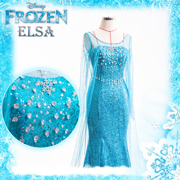 ディズニー アナと雪の女王 FROZEN  アナの姉  エルサ コスプレ衣装 Elsa ドレス コスチューム