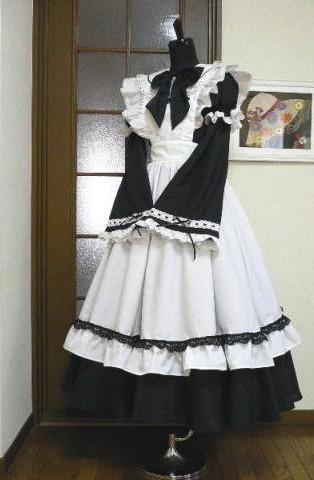 ロングメイド服 8点セット コスプレ衣装