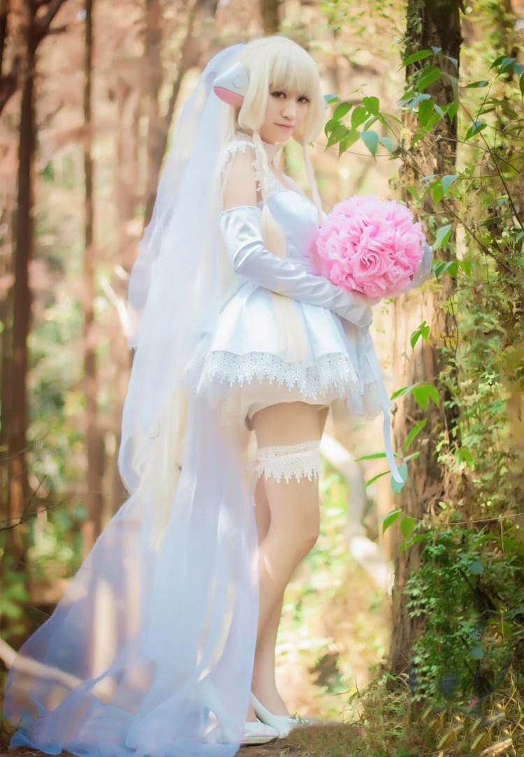 Chobitsちょびっツ ちょびっつ ちぃちゃん  花嫁 ドレス  セット コスプレ衣装