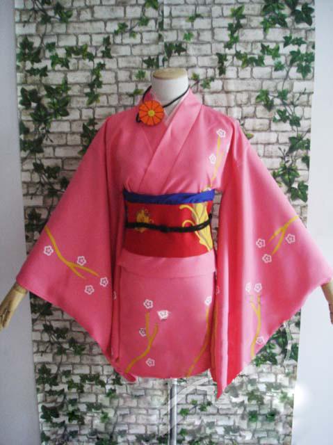 銀魂 柳生九兵衛(やぎゅう きゅうべえ)和服 コスプレ衣装