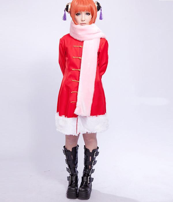コスプレ衣装 銀魂 GINTAMA 神楽 風 冬服