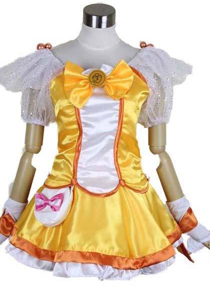 スマイルプリキュア! Smile PreCure! 黄瀬やよい キュアピース Cure Peace コスプレ衣装 変装 仮装 コスチューム