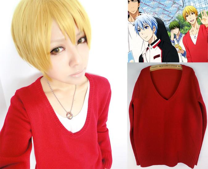コスプレ衣装 黒子のバスケ 黄瀬涼太 赤のセーター