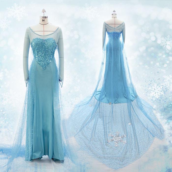 ディズニー アナと雪の女王 FROZEN  アナの姉  エルサ コスプレ衣装 Elsa ドレス コスチューム 豪華版