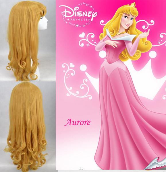 耐熱コスプレウイッグ ディズニープリンセス Disney 眠れる森の美女 オーロラ姫 ウイッグ