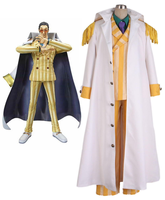 ONE PIECE ワンピース 海軍三大将 黄猿 きざる ボルサリーノ コスプレ衣装