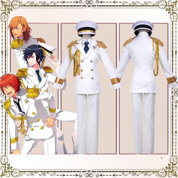 豪華版 うたの☆プリンスさまっ?  Shining All Star CD RAINBOW☆DREAM風 コスプレ衣装 白軍服