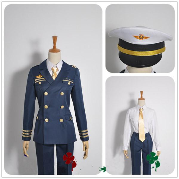 コスチューム うたの☆プリンスさまっ? Shining Airlines 新人パイロット 一十木音也 副機長制服  コスプ衣装