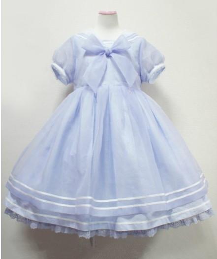 セーラーワンピース ロリータワンピース 海軍風セーラー服 蝶結びドレス Lolita AP 5色選択