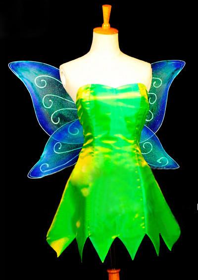 ディズニー ピーターパン ティンカー?ベル ティンク 妖精の翼 コスプレ衣装 コスチューム