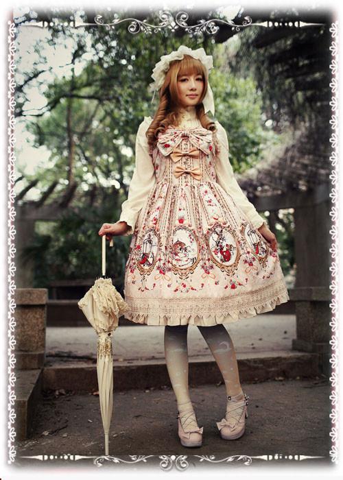 シンデレラ ロリータワンピース Lolita JSK 可愛い蝶結び 高品質 豪華