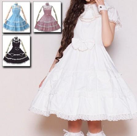 ジャンニーヌ ハートフルリボンジャンパースカート  ゴスロリ ロリータ パンク コスプレ コスチューム メイド衣装