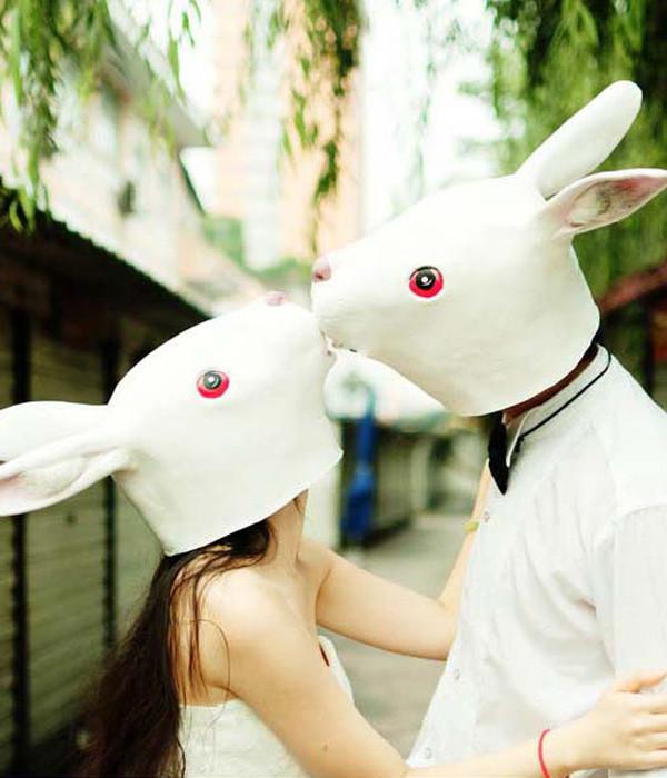 長い耳 可愛いウサギ風マスク  仮面  兎のお面