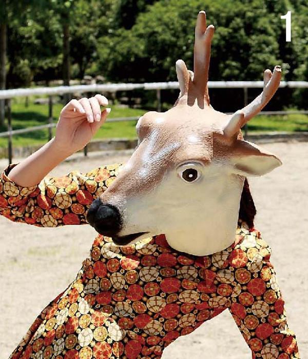 イタズラマスク 動物風マスク パーティー 動物仮面?マスクアニマルマスク ダークホース 馬マスク かぶりもの グッズ 馬書