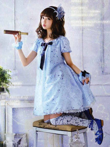 Lolita AP 星座柄ワンピース 海軍風えりワンピース ロリータワンピース Lolita OP Lolita JSK