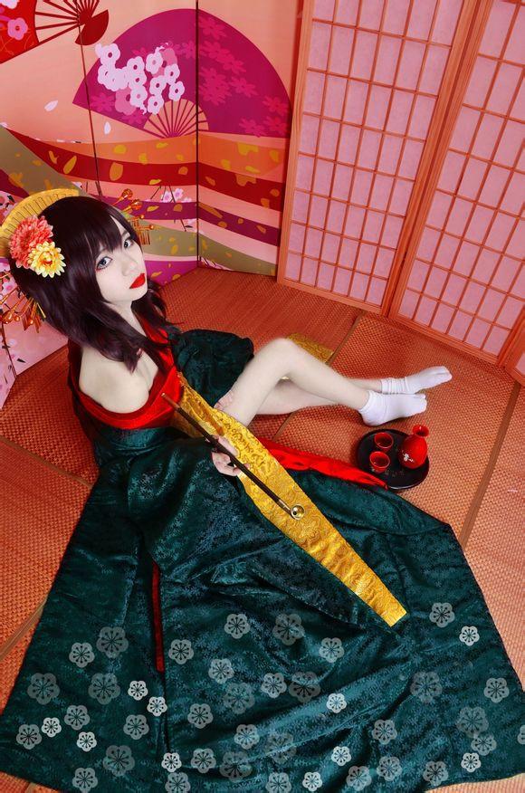 VOCALOID 花魁和服 重音テトオリジナル コスプレ吉原ラメント コスプレ衣装