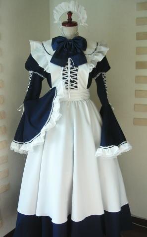 大人気コスプレ衣装 ロングメイド服 メイドドレス コスチューム