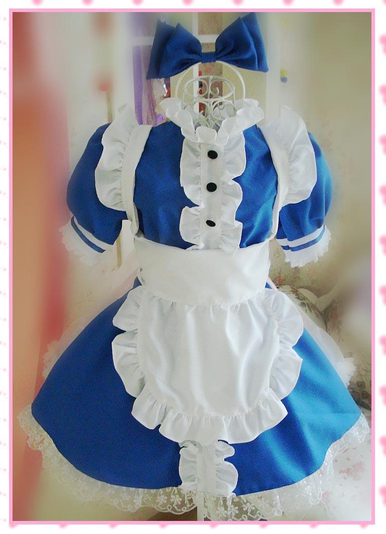 不思議の国のアリス 華やかメイド服 コスプレ衣装 メイドドレス