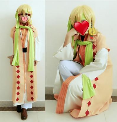 暁のヨナ(あかつきのヨナ) zeno ゼノ(黄龍) ゼノ ぜの コスプレ衣装 和服 着物 変装