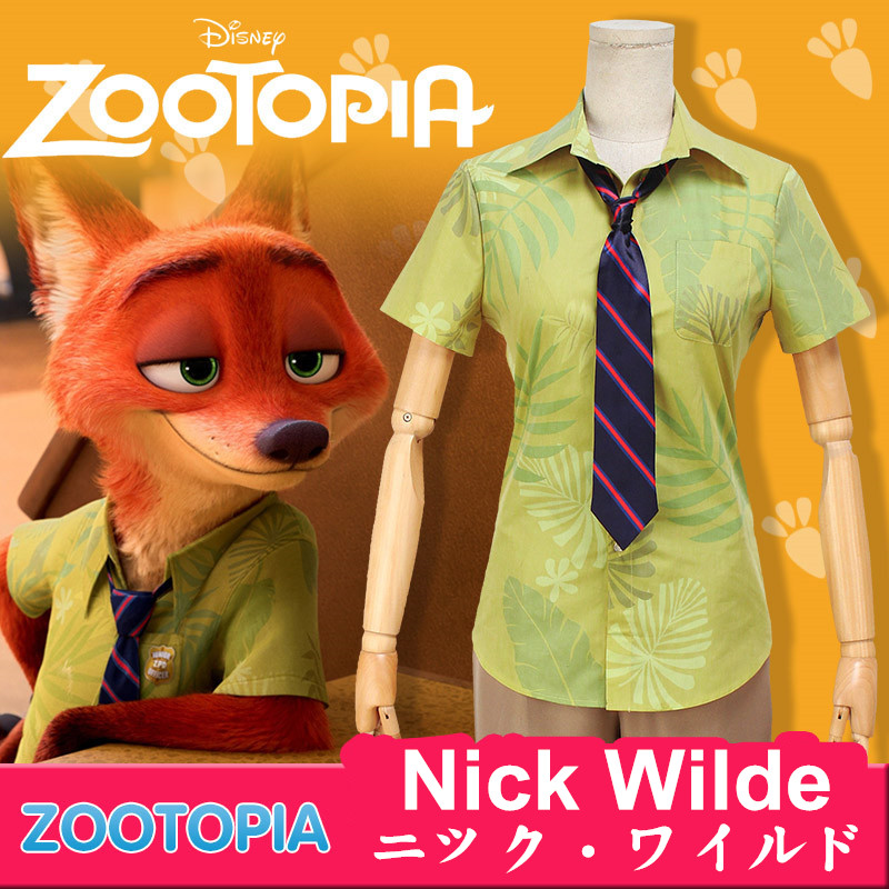 Disney ディズニー Zootopia ズートピア Nick Wilde ニック?ワイルド コスプレ衣装 コスチューム