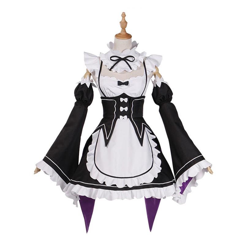 Re:ゼロから始める異世界生活 レム(リゼロ) / ラム(リゼロ) コスプレ衣装 メイド服