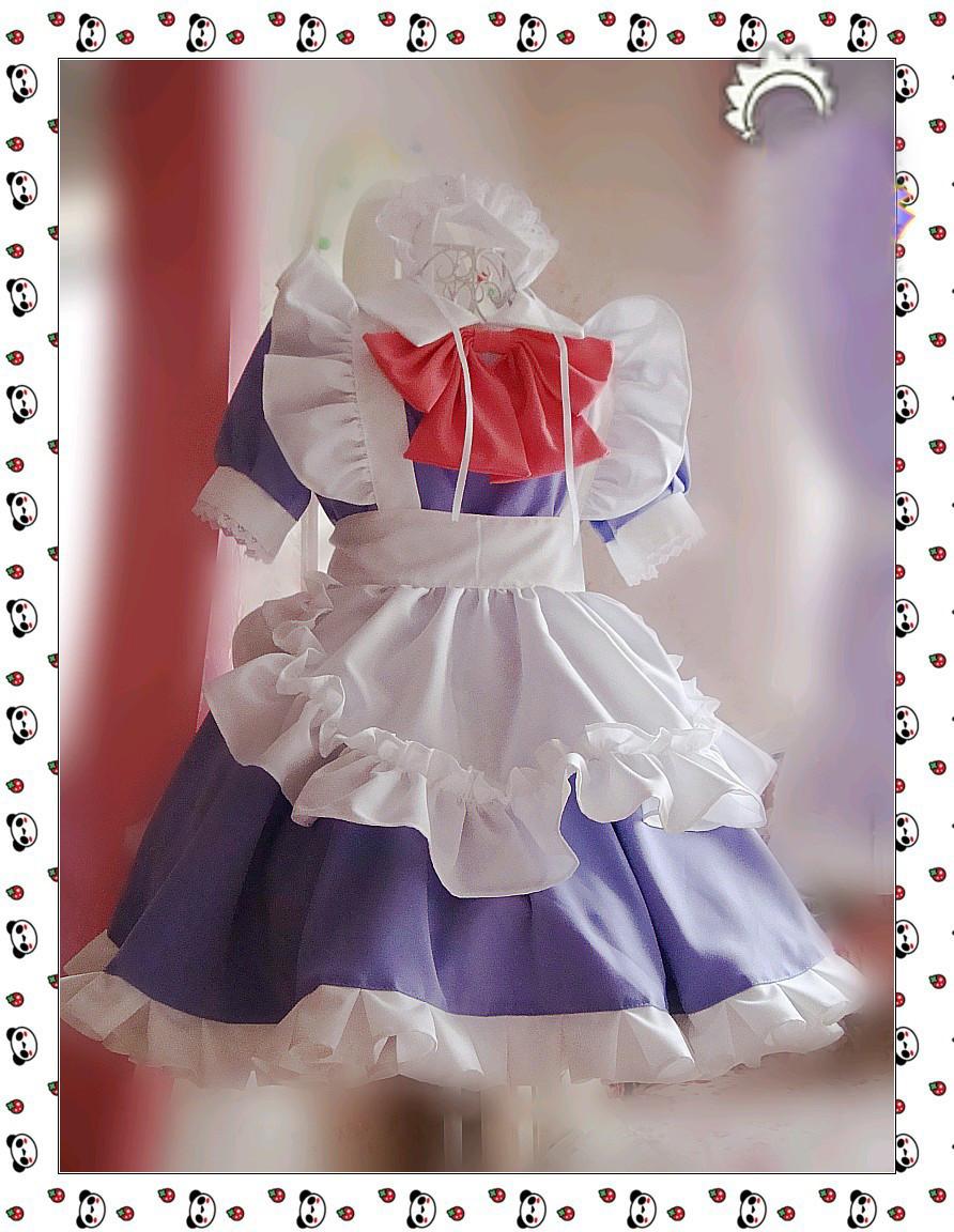 コスプレ メイド服 可愛い蝶結び メイド コスプレ衣装 コスチューム
