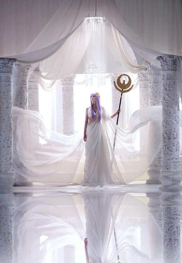 聖闘士星矢セイントセイヤ アテナ コスプレ衣装 ハロウィン コスチューム